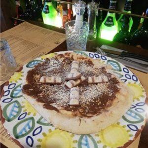 Photo pizza nutella andiamo osteria